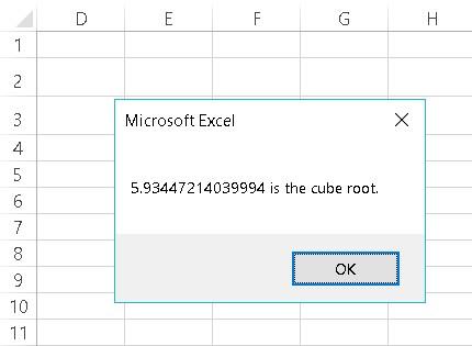 MsgBox function Excel VBA