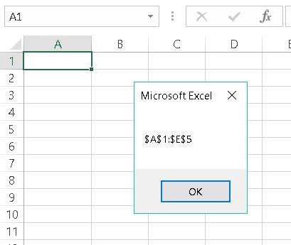 Excel VBA Range Address property