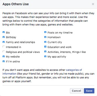 apps others use Facebook
