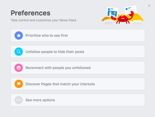 News Feed preferences Facebook