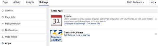 Facebook additioanl applications