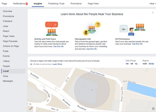 Local report Facebook