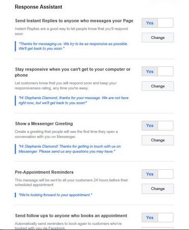 Response Assistant Facebook