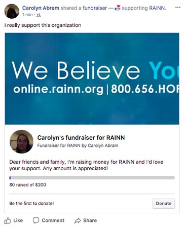 fundraising on Facebook