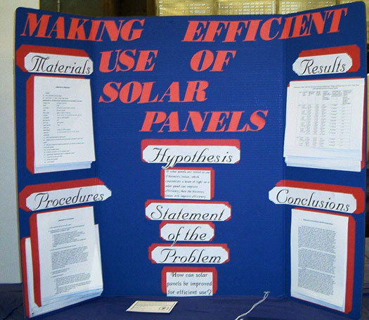 "Project display for ""Making efficient use of solar panels."""