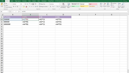 financial modeling formulas