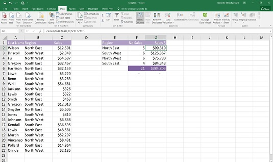 using SUMIF in excel