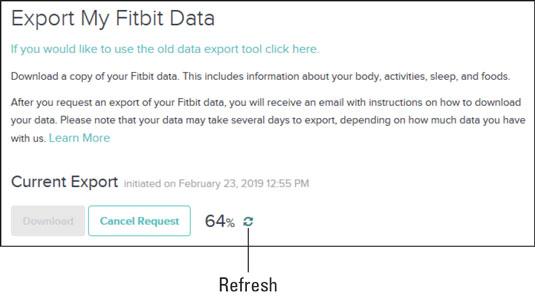 Fitbit Current Export