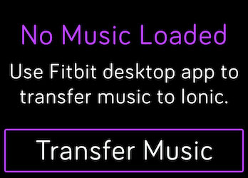 Transfer Music to your Fitbit