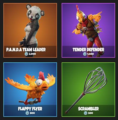 featured items in Fortnite
