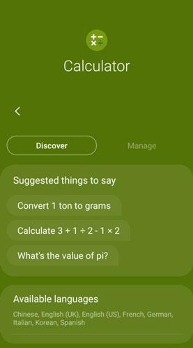 Calculator app and Bixby