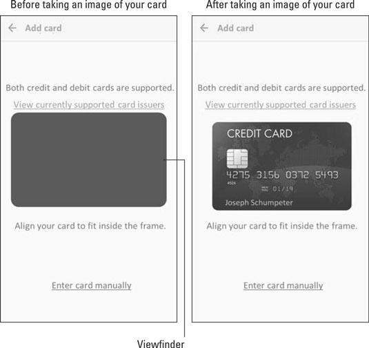 Samsung Pay image processing screen