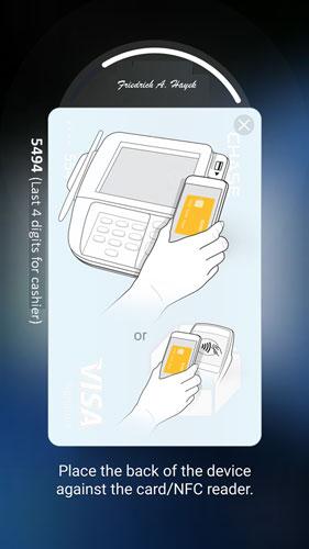 Samsung Pay fingerprint screen