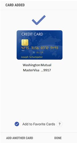 Samsung Pay verification