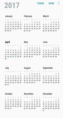 Set the Samsung Galaxy S8's Calendar Display Preferences