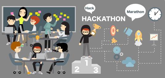 GitHub hackathon graphic