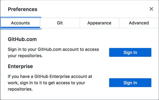 GitHub Sign in dialog box