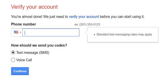 verify your Google account
