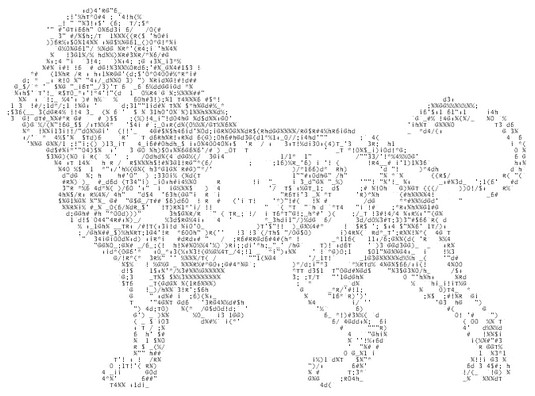 ASCII art picture coding