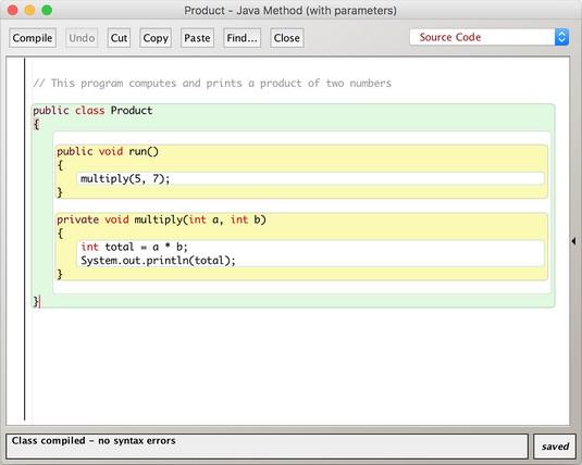 Java parameters