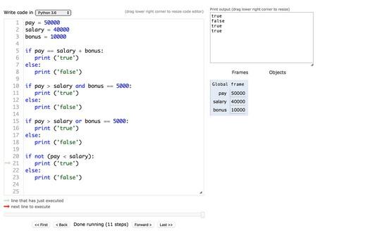 Python logical operators