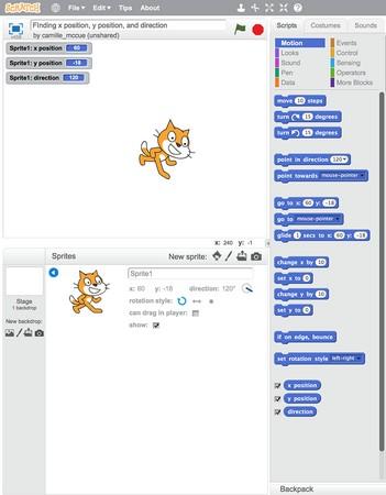 sprite coordinates coding