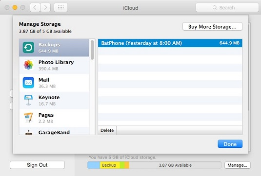Managing Your iCloud Storage on Your iMac - dummies