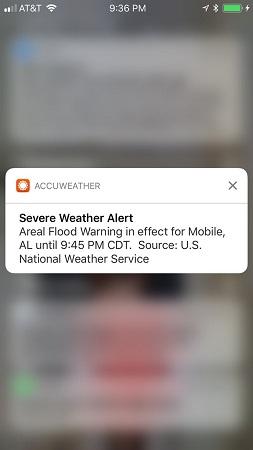 iPhone CoverSheet notifications