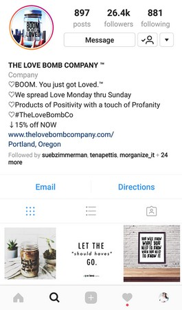Instagram lovebombco