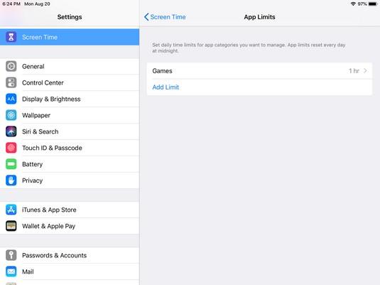 iPad App Limits