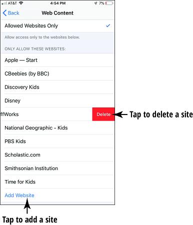 Add ebsite button iPhone