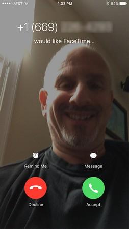 iPhone FaceTime