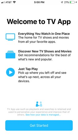 iPhone TV app