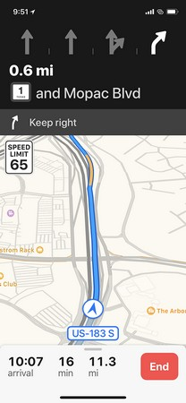 multilane driving iPhone X