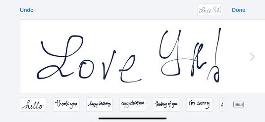 handwriting iPhone X