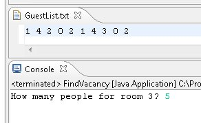 filling a vacancy in java