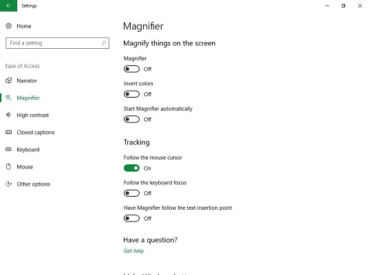 Magnifier Windows 10