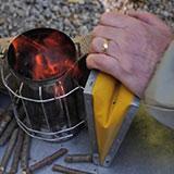 Lighting Your Beehive Smoker