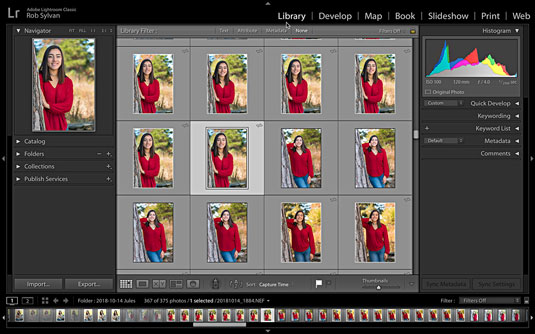 Library module of Lightroom Classic