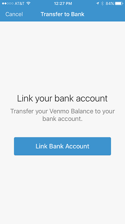 link bank account to venmo