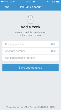 link bank to venmo