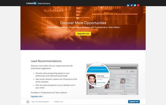 Sales Navigator account features