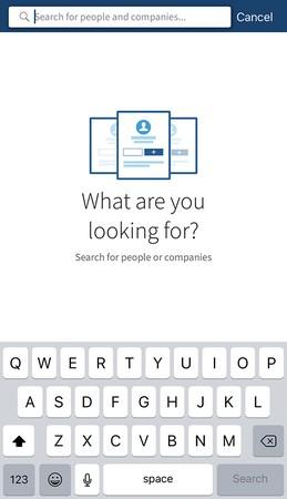 Sales Navigator app search