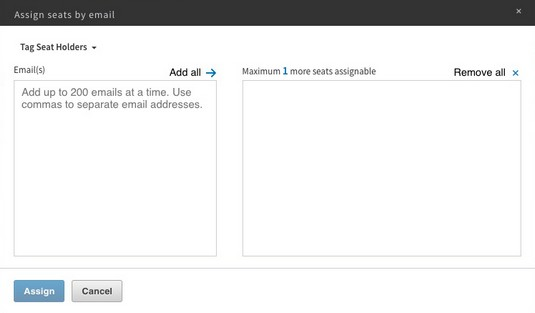 assign seats by email LinkedIn Sales Navigator