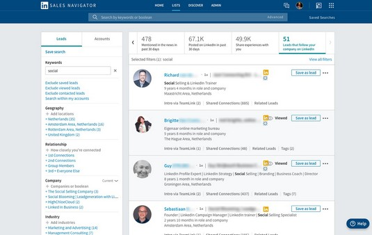 LinkedIn leads that follow your page