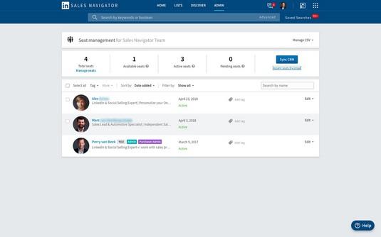 manage LinkedIn Sales Navigator accounts