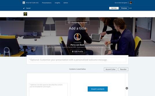 create PointDrive presentation