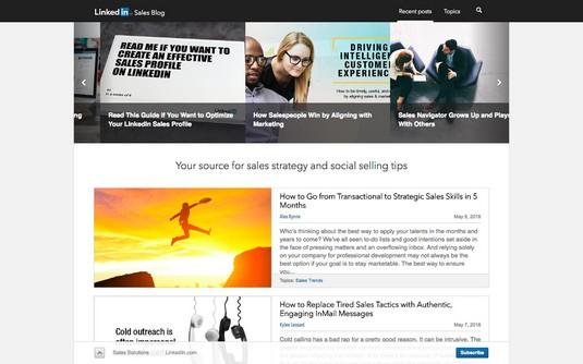 LinkedIn sales blog