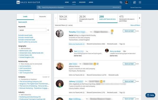 LinkedIn Sales Navigator Teamlink