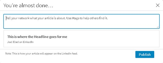 article tags LinkedIn